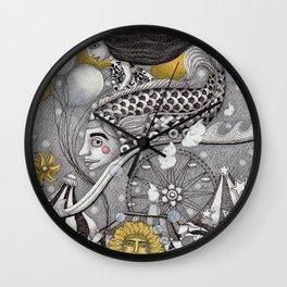 Roller Coaster Ride Wall Clock