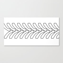 Tractor Tyre Tread Outline Canvas Print
