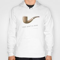 magritte Hoodies featuring This Ain't a Pipe. (Southern Magritte) by Old South Inkery