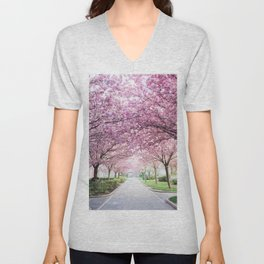 Sakura tree street Unisex V-Neck