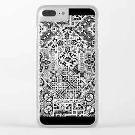 celtic knot black & white Clear iPhone Case