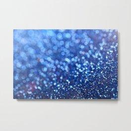 Beautiful Blue Glitter Sparkles Metal Print