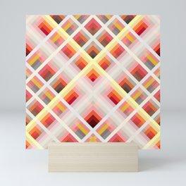 Multicolored Retro Grid Roc Mini Art Print