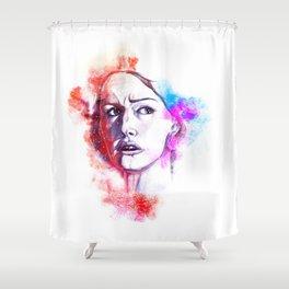 frightened girl Shower Curtain