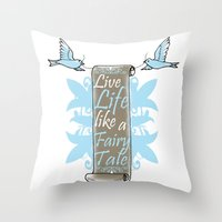 fairy tale Throw Pillows featuring Fairy Tale by VirgoSpice