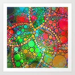 Colorful Bubble Pattern Abstract Art Print