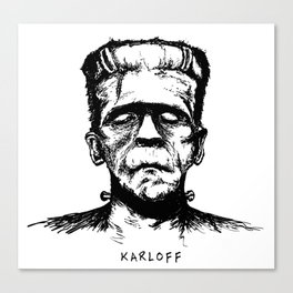 Karloff's Monster Canvas Print