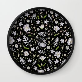 Leaves and flowers (10) Wall Clock