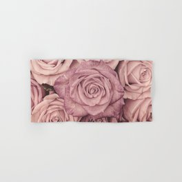 Some People Grumble - Pink Rose Pattern - Roses Garden Hand & Bath Towel