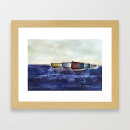 like boats we sway Framed Art Print
