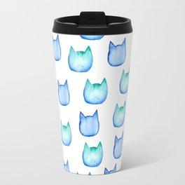 watercolor cats heads Travel Mug