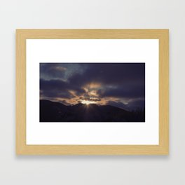 Yesterday Is Gone // Today Is A New Day Framed Art Print