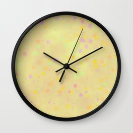 vintage fantasy pastel dots Wall Clock
