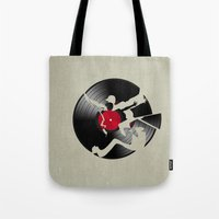 music Tote Bags featuring music  by mark ashkenazi