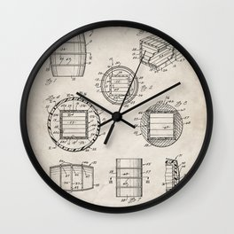 Whisky Barrel Patent - Whisky Art - Antique Wall Clock