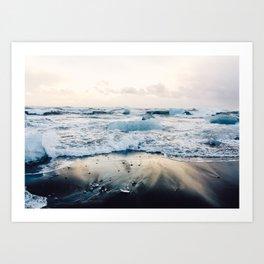 Diamond Beach, Iceland Art Print