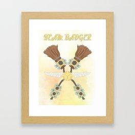 Team Badger Framed Art Print