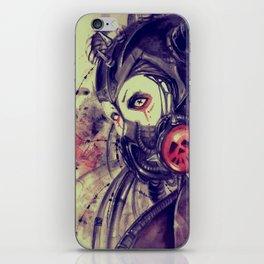 Cyber girl iPhone Skin