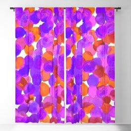 Watercolor Circles - Purple Red Orange Palette Blackout Curtain
