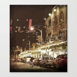 Glowing Market Canvas Print