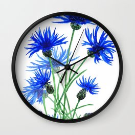 blue cornflower Wall Clock