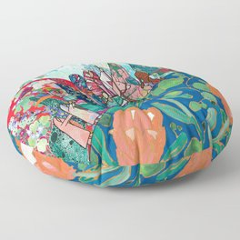 Floral Migrant Quilt Floor Pillow