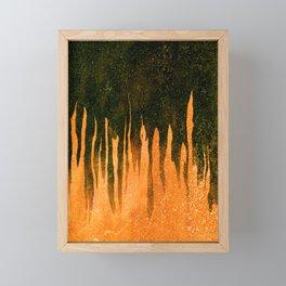 Orange and Black Smear Framed Mini Art Print