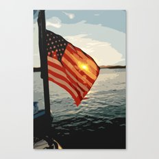 Patriot's Sunset Canvas Print