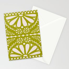 Fiesta de Flores in Lime Stationery Cards