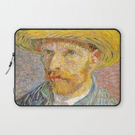 Self-Portrait with a Straw Hat - Vincent Van Gogh Laptop Sleeve