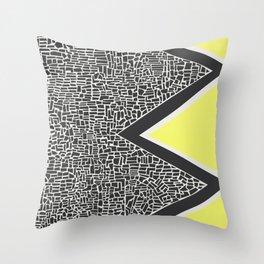 Abstract Mountain Range Throw Pillow