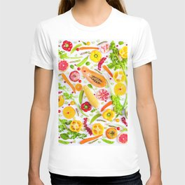 Fruits and vegetables pattern (31) T-shirt