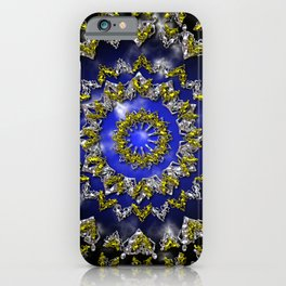 The Origin Gold and Silver With Plasma iPhone Case