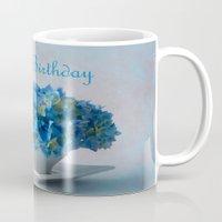 hydrangea Mugs featuring Hydrangea by Fine Art by Rina