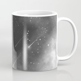 Monochrome space. Starfall. Night starry sky. Coffee Mug