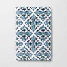 Tiles - cool Metal Print