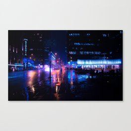 rainy nights in Vancouver Canvas Print