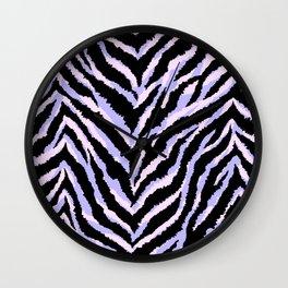 Zebra fur texture print II Wall Clock