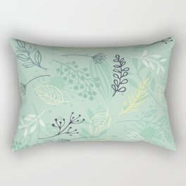 Flowers and Herbs Rectangular Pillow