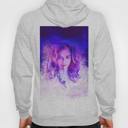 Pink and blue portrait Hoody