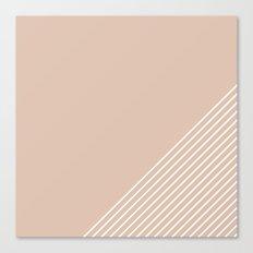 White & Pink Stripes Canvas Print