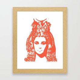 Elizabeth Taylor as Cleopatra - Orange / Terra Cota Framed Art Print