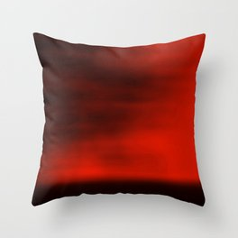 Blurred Sky-Red Throw Pillow