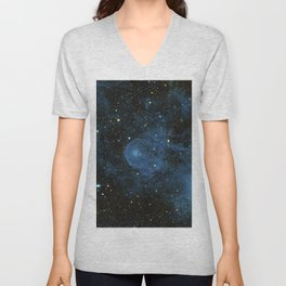 A runaway star called CW Leo plowing through the depths of space and piling up interstellar material Unisex V-Neck