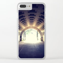 Tunnel's end Clear iPhone Case