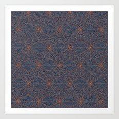 Cuben Wavey Art Print