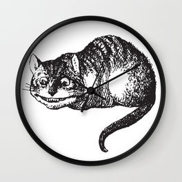 Cheshire Cat - Alice in wonderland Wall Clock