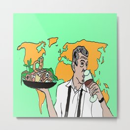 The colorful life of Anthony Bourdain Metal Print