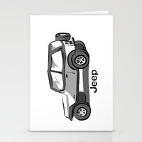 jeep Stationery Cards featuring Jeep by Mister Abigail