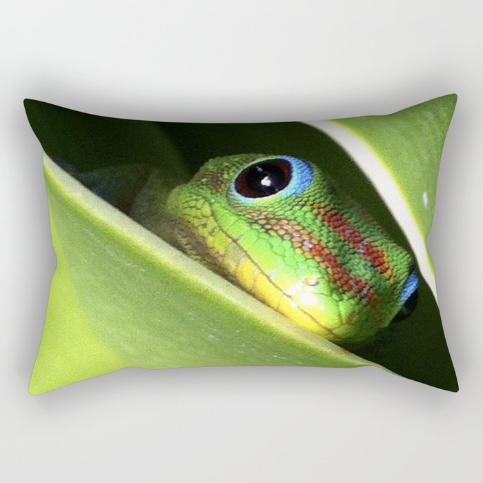 Eyes in the Grass Rectangular Pillow